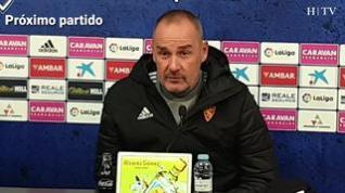"""Víctor Fernández, entrenador del Real Zaragoza: """"Tenemos que salir muy concentrados defensivamente"""""""