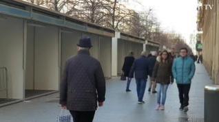 Cuenta atrás para la apertura del mercadillo de Navidad de plaza de Aragón, en Zaragoza