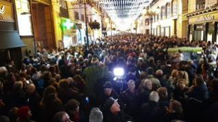 Así ha sido el encendido de luces navideñas en la plaza del Pilar de Zaragoza