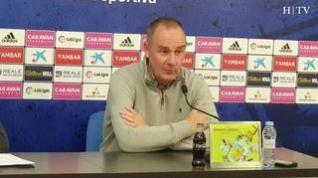 """Víctor Fernández, del Real Zaragoza: """"El Deportivo es un equipo golpeado por los malos resultados"""""""