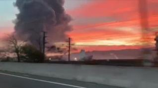 Evacuan a las personas que están a 500 metros del incendio de Montornés del Vallés