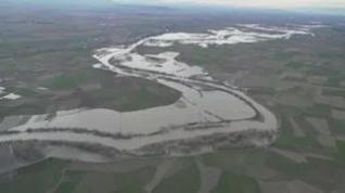 La riada del Ebro, desde el aire