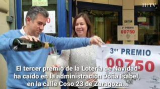 El tercer premio deja casi 1,5 millones en Zaragoza