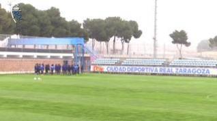 Primer entrenamiento del año del Real Zaragoza