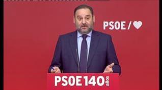 """Ábalos presume de acuerdos y critica """"la propaganda que habla de un referéndum de autodeterminación"""""""