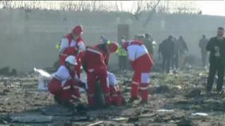 Mueren todas las personas a bordo del avión ucraniano estrellado en Teherán