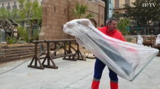 Comienza el desmontaje del Belén gigante de la plaza del Pilar de Zaragoza