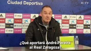 """Víctor Fernández, del Real Zaragoza: """"Me gusta Pereira, es diferente a todo lo que tenemos"""""""