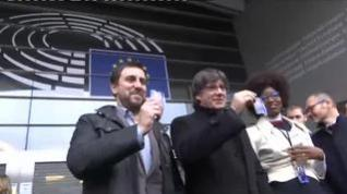 Primer pleno en Estrasburgo con Puigdemont y Comín, pero sin Junqueras