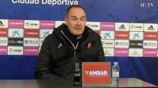 """Víctor Fernández, del Real Zaragoza: """"Tenemos que estar al 100% en Las Palmas"""""""