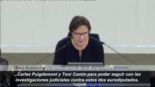 El Europarlamento inicia el proceso para debatir si retira la inmunidad a Puigdemont y Comín