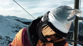La rider Nuria Castán, del Esquí Club Cerler -Aneto, en acción