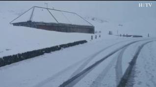 La nieve llega de nuevo al Pirineo: Así ha amanecido el Portalet