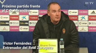 """Víctor Fernández: """"Va a ser un choque intenso entre los dos equipos"""""""