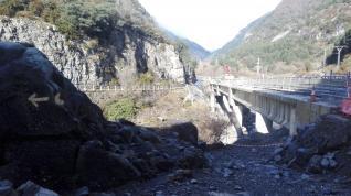 Nuevo corte en el Camino de Santiago a su paso por el valle del Aragón
