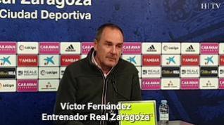 """Víctor Fernández, del Real Zaragoza: """"La Copa no es nuestra prioridad, pero saldremos a ganar"""""""