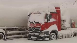 Incomunicados por la nieve en Montalbán (Teruel)