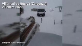 Incomunicados en el restaurante Plaza Mudéjar de Villarreal de Huerva (Zaragoza)