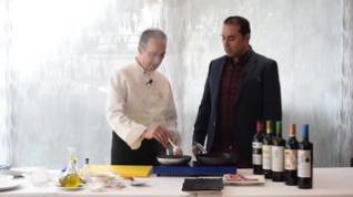 Receta de abanico ibérico, compota de invierno y vino tinto