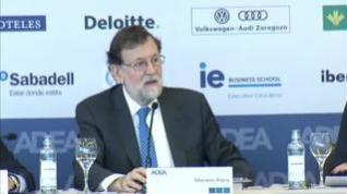 """Rajoy, preguntado por la RFEF: """"He venido aquí a hablar de mi libro"""""""