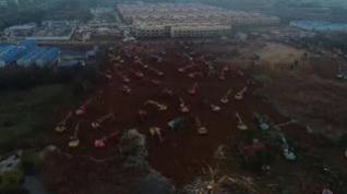Comienza en Wuhan la construcción exprés de un hospital para los infectados con el coronavirus