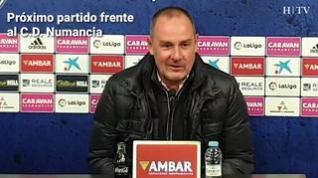 """Víctor Fernández: """"El partido contra el Numancia va a ser de gran dificultad"""""""