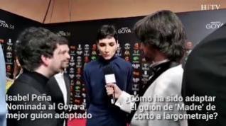 """Isabel Peña en la alfombra roja de los Premios Goya 2020: """"Ha sido un trabajo entre difícil y excitante"""""""