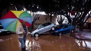 Inundaciones en el distrito de Campanillas, en Málaga.