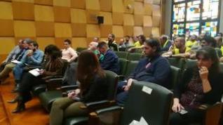 Los jardineros crispan el pleno del Ayuntamiento de Zaragoza