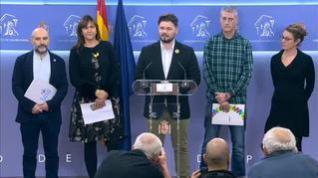 ERC, JxCat, la CUP, EH Bildu y el BNG plantan al rey en el arranque de la XIV legislatura