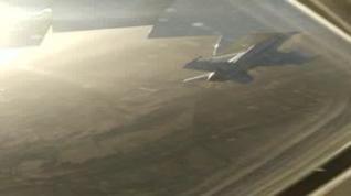 Vídeo del F18 que acompañó al avión de Air Canada
