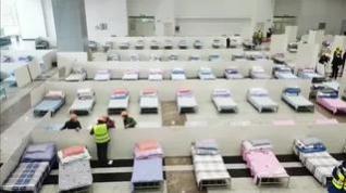 Wuhan convierte su centro de conferencias y exposiciones en un hospital temporal con 18.000 camas