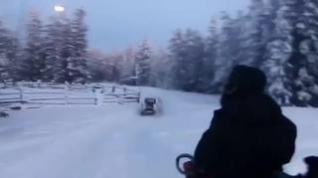 El 'zaragozano de las nieves' supera los 1.000 kilómetros en bici por Siberia