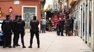 Controlado el incendio en un edificio de la calle de San Agustín de Zaragoza