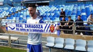 """Burgui, del Real Zaragoza: """"Hay muy buen ambiente en el equipo, eso es clave para triunfar"""""""