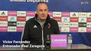 """Víctor Fernández: """"El partido contra Elche es una prueba de madurez para el Real Zaragoza"""""""