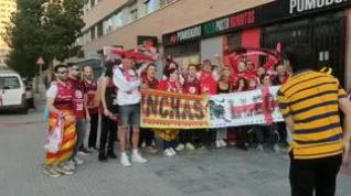 Aficionados del Casademont Zaragoza, en la Copa del Rey de Málaga