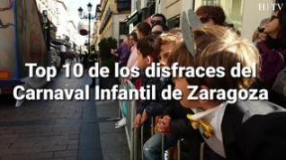 El top 10 de los disfraces del Carnaval Infantil de Zaragoza