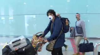 Decenas de mascarillas en los aeropuertos españoles