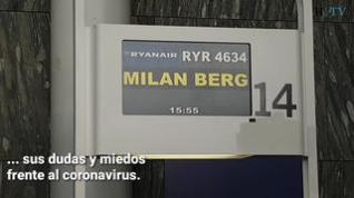 Mascarillas y tranquilidad para viajar a Bérgamo desde Zaragoza