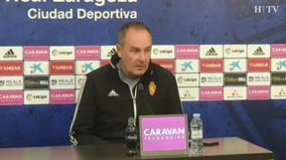 """Víctor Fernández, Real Zaragoza: """"Estamos muy concentrados en el partido contra el Racing"""""""