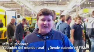 El 'youtuber' Miquel Montoro se encuentra en FIMA con el ministro de Agricultura
