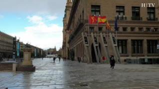 Zaragoza amanece con fuertes rachas de viento