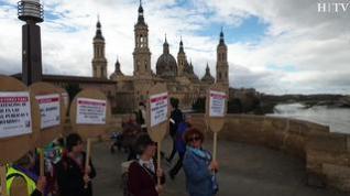 Marcha reivindicativa para reivindicar mejoras en los barrios de Zaragoza