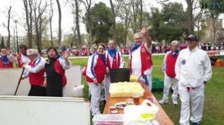 La lluvia matinal  no frena las ganas de celebrar la Cincomarzada en Zaragoza