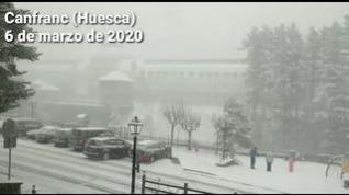 El invierno vuelve al Pirineo con importantes nevadas
