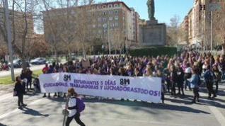 Manifestación de estudiantes por el 8M