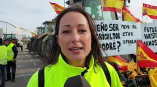 """Protesta de los agricultores en Zaragoza: """"Queremos un futuro digno para nuestros hijos"""""""