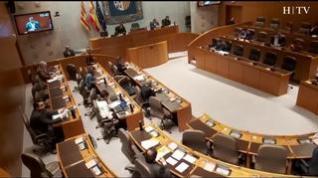 El pleno de las Cortes se celebra con solo un tercio de los diputados para evitar contagios