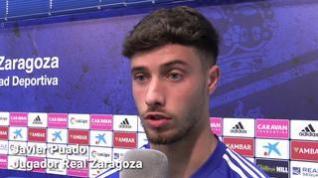 """Puado,del Real Zaragoza, antes de confirmarse la suspensión de la liga: """"Para nosotros es mejor así"""""""
